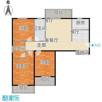 汉武国际城128.00㎡E户型 3室2厅2卫户型3室2厅2卫