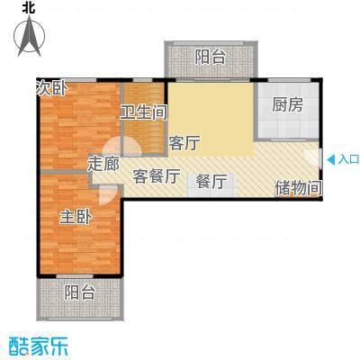 汉武国际城91.00㎡A户型 2室2厅1卫户型2室2厅1卫