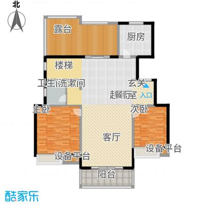 朝阳首府174.07㎡洋房6f三室两厅两卫户型3室2厅2卫