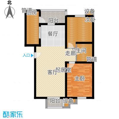 城际美景E单元 两室二厅 93-98平米户型
