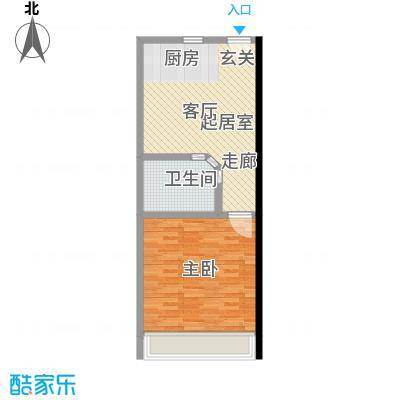 凡高公寓55.00㎡55平米一房户型1室1厅1卫