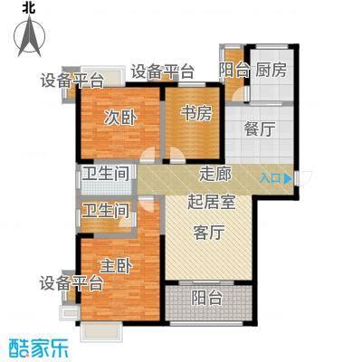 西港碧水湾138.29㎡D/D1户型3室2厅2卫