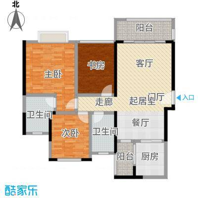 君华硅谷103.00㎡77/80栋02户型、79/81栋02户型3室2厅2卫