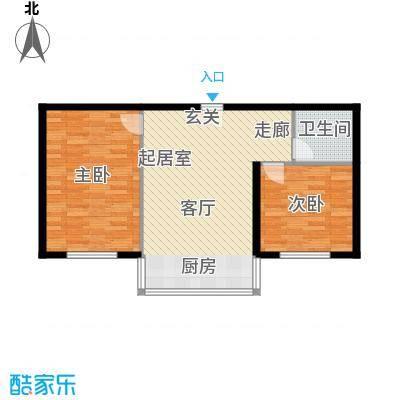 铭丰渤海明珠家园户型2室1卫