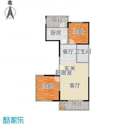 华都・襄湾壹号户型2室1卫1厨