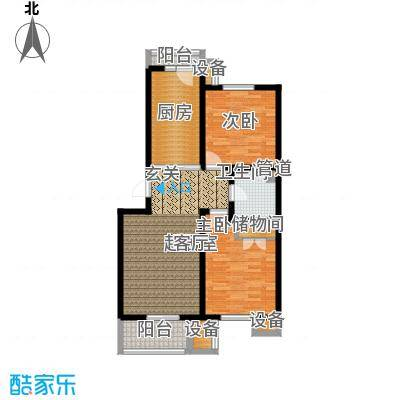 城际美景B单元 两室一厅 80-85平米户型