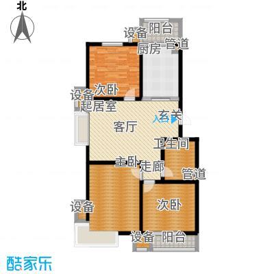 城际美景H单元 三室一厅 110-115平米户型