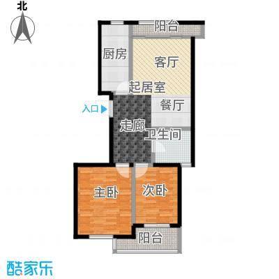 金桥澎湖山庄92.83㎡G7户型2室2厅1卫
