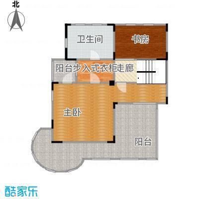 观林一品101.60㎡A第三层平面图户型3室1厅1卫