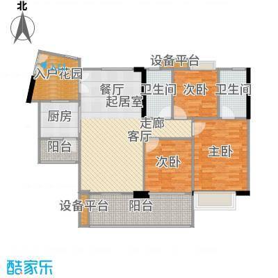 富力现代广场120.00㎡B户型3室2厅2卫