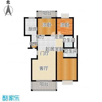 四季花城127.04㎡B2户型127.04户型3室2厅2卫