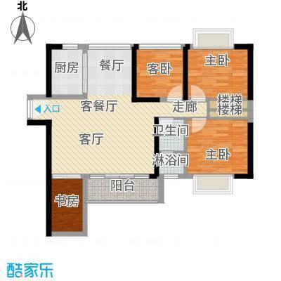 中央御园建筑面积:88.63㎡,赠送面积25.29㎡,拓展面积约:113.92㎡户型4室2厅1卫