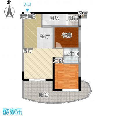 美好・龙沐湾D6 91.68平米户型2室2厅1卫