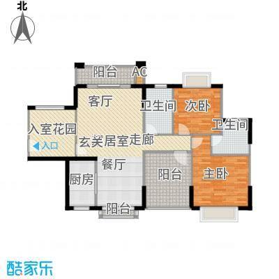 龙光天悦龙庭111.30㎡D2户型2室2厅2卫