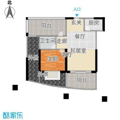 龙光天悦龙庭72.30㎡F4户型1室2厅1卫