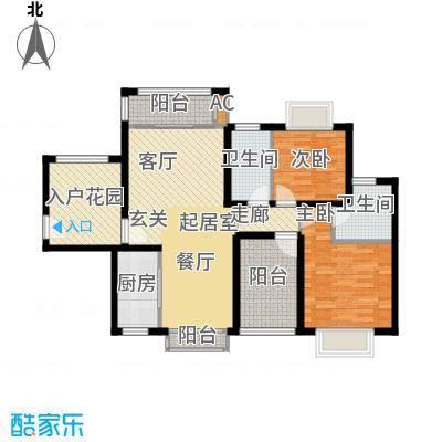 龙光天悦龙庭105.90㎡H1户型2室2厅2卫-T