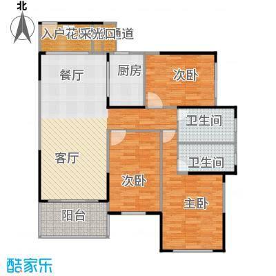 建大领秀城95.00㎡3栋03单元/4栋04户型图户型3室2厅2卫
