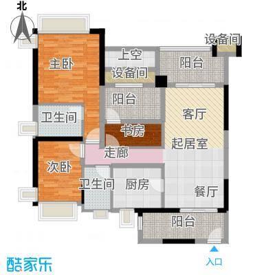 雅居乐凯茵又一城108.22㎡16/17栋01/02单位户型3室2厅2卫