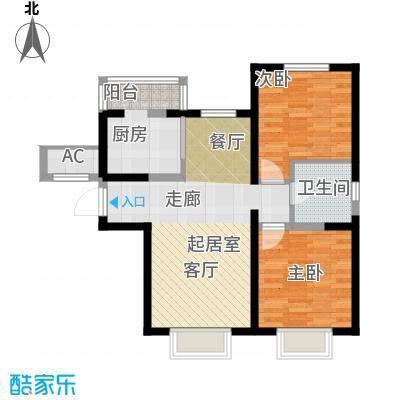 柴楼新庄园D户型 两室两厅一卫户型