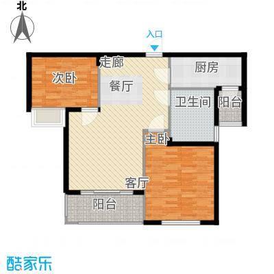 清华苑88.00㎡5号楼C-2户型2室2厅1卫