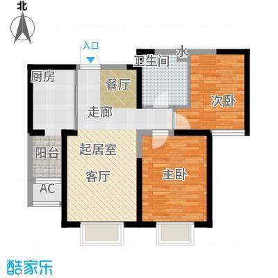柴楼新庄园C户型 两室两厅一卫户型
