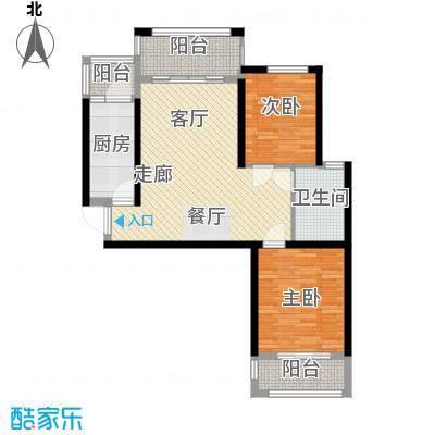 清华苑83.00㎡2、3、6号楼B-3户型2室2厅1卫
