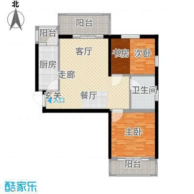 清华苑87.00㎡2、3、6号楼B-1户型2室2厅1卫