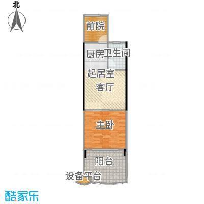 中和龙沐湾・海润源55.15㎡A2户型1室1厅1卫