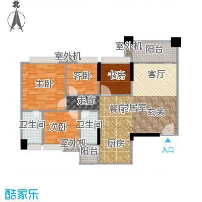贝迪豪庭113.00㎡11/12栋01单位户型4室2厅2卫