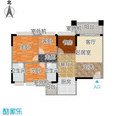 贝迪豪庭113.00㎡13栋01单位户型4室2厅2卫