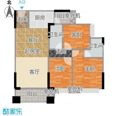 贝迪豪庭95.00㎡13栋04单位户型2室2厅2卫