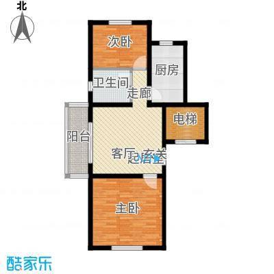 公元209980.85㎡19号楼、21号楼户型2室1厅1卫