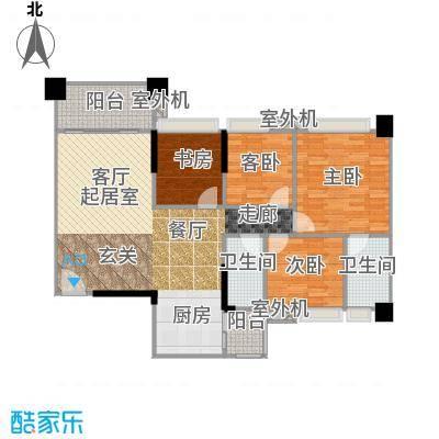 贝迪豪庭113.00㎡13栋02单位户型4室2厅2卫