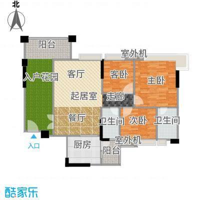 贝迪豪庭106.45㎡5栋01、02单位户型3室2厅2卫