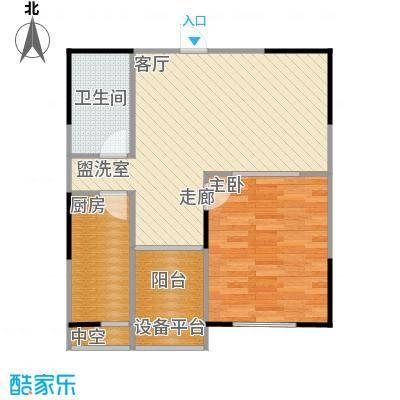 UP青年公社62.53㎡一房一厅一卫一厨-62.53平方米户型