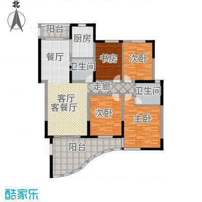 时代中央社区170平米B户型 4室2厅2卫1厨户型4室2厅2卫