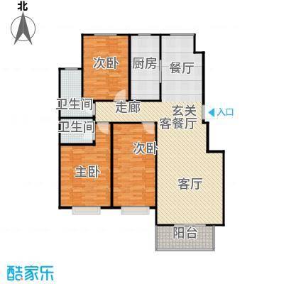向阳雅园133.82㎡三室两厅两卫户型3室2厅2卫