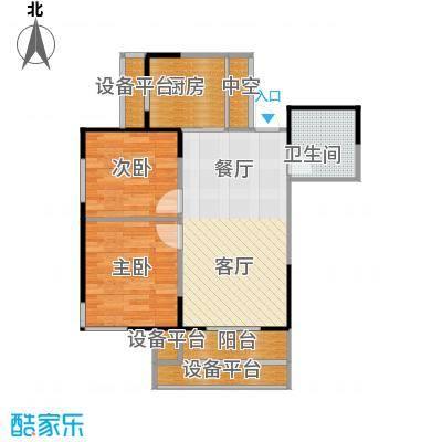 UP青年公社u3两室77平户型