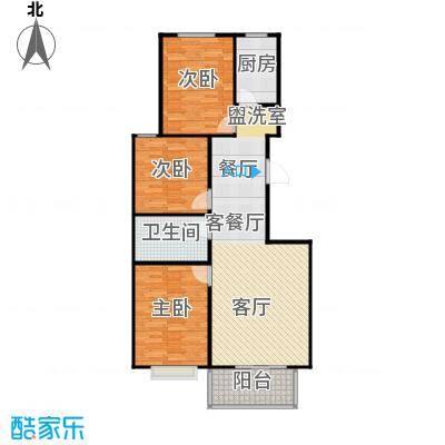 向阳雅园93.00㎡三室二厅一卫户型3室2厅1卫