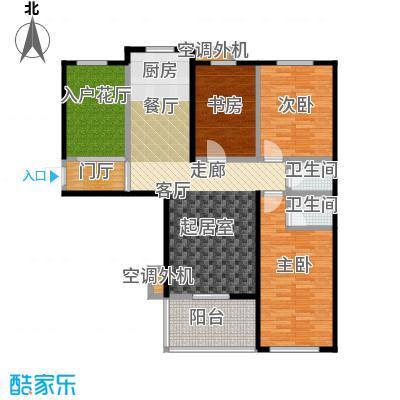 海韵馨园三室两厅两卫户型
