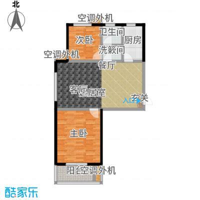 海韵馨园两室两厅一卫户型