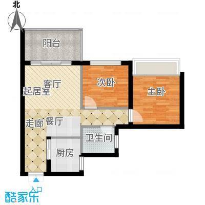 海韵・陵河假日68.14㎡二期户型4户型2室2厅1卫