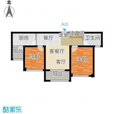 苏州望湖公寓81.00㎡B户型2室2厅1卫
