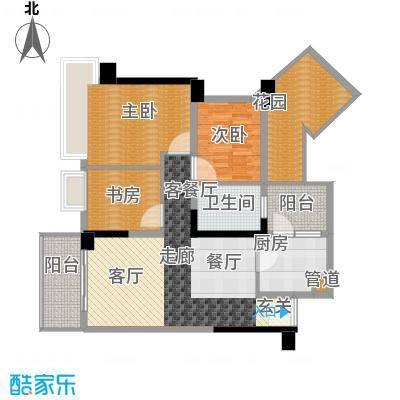 雅居乐铂爵山98.09㎡98.09平米三房户型3室2厅1卫