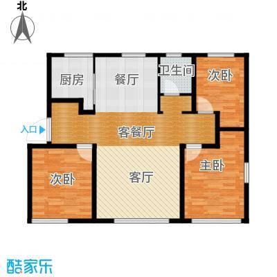 君豪御园115.25㎡H户型3室2厅1卫