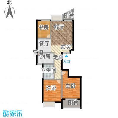 金桥澎湖湾113.00㎡B户型3室2厅1卫