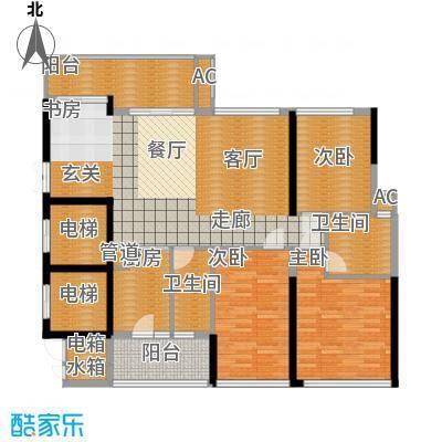 芳邻雅居三房两厅两卫户型3室2厅2卫
