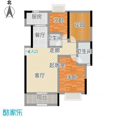 益华御才湾134.00㎡A2两室两厅两卫户型2室2厅2卫