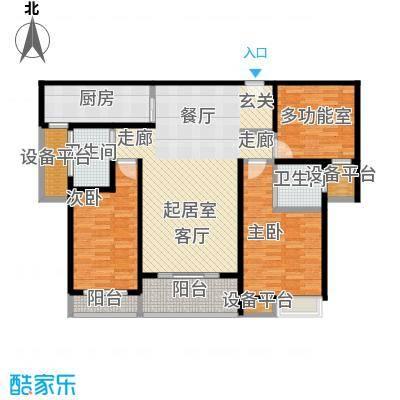 佳诚长安集115平米三室两厅户型CC