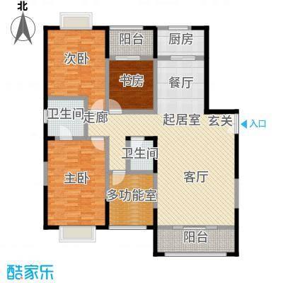 益华御才湾158.00㎡A1三室两厅两卫户型3室2厅2卫